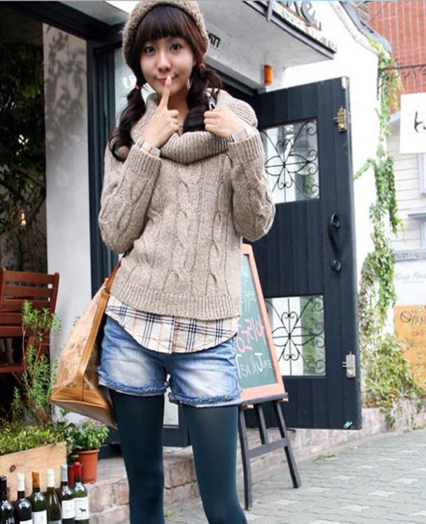 lovely korean outfit for winter 11