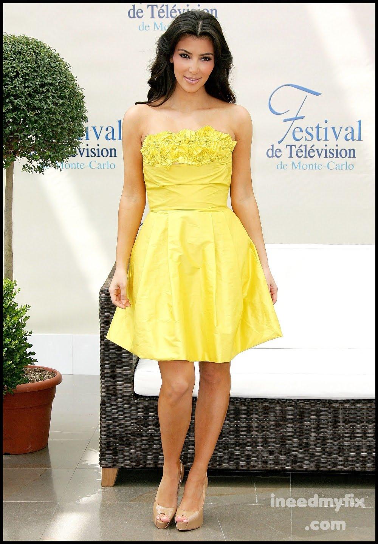 kim kardashian's yellow dress  sodirmumtaz