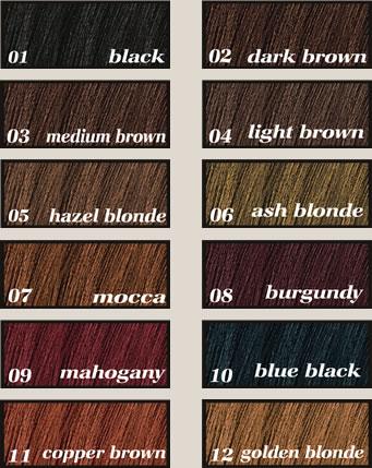 Natural Hair Colors List